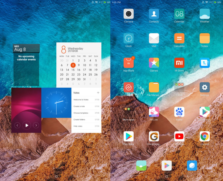 Xiaomi Mi Pad 4 MIUI Screenshot