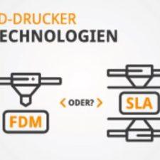SLA vs. FDM Vergleich 3D-Druck