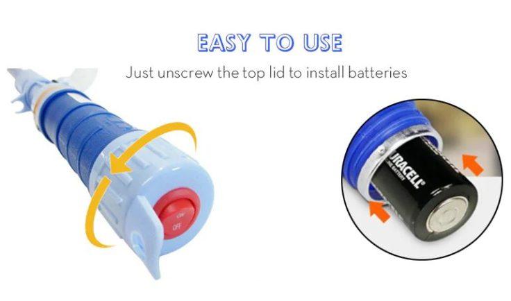 Batteriebetriebene Pumpe Batteriefach Verschluss