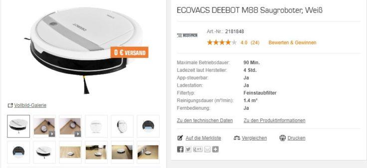 Ecovacs DEEBOT M88 Saugroboter Saturn