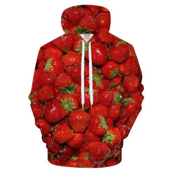 Erdbeer-Hoodie