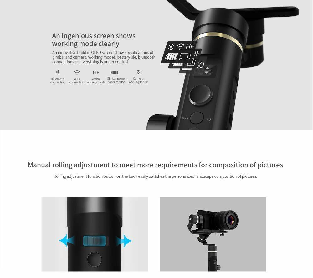 FeiyuTech G6 Plus DSLR Gimbal Display