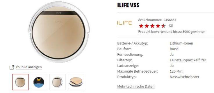 ILIFE V5S Saugroboter MediaMarkt