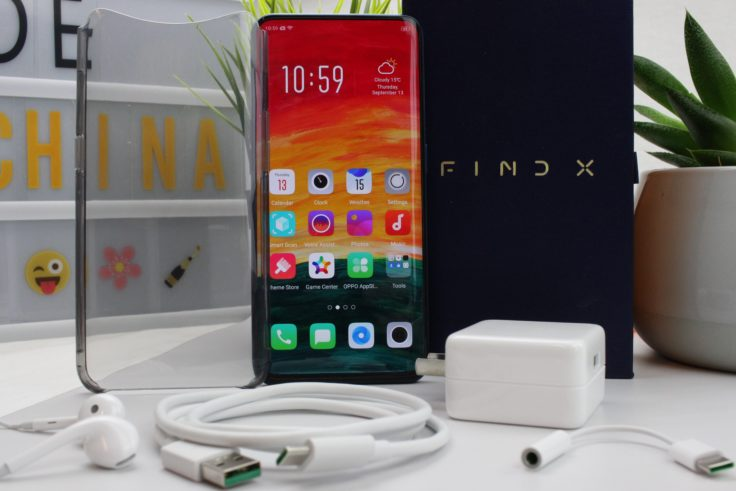 Oppo Find X Lieferumfang
