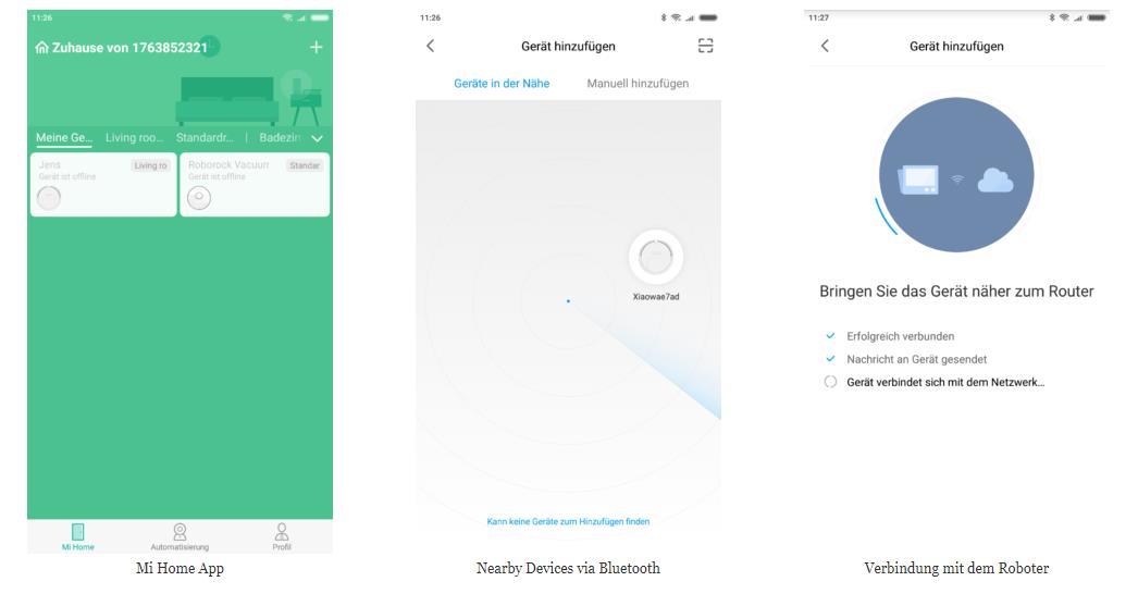 RoboRock Xiaowa E20 Saugroboter App-Verbindung