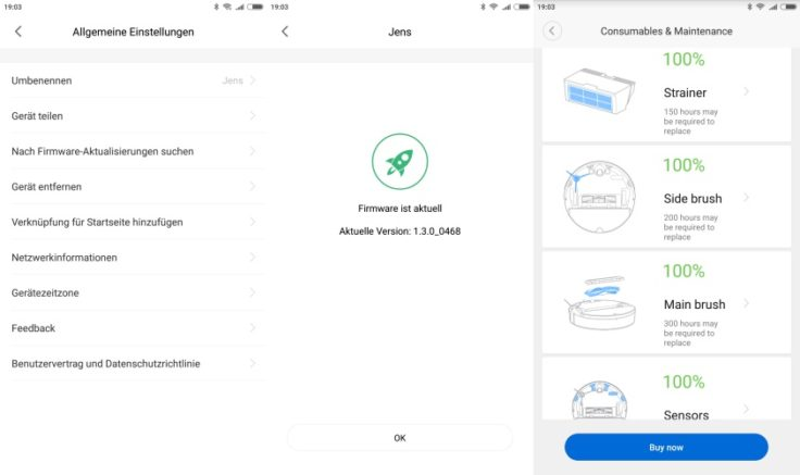 RoboRock Xiaowa E35 Saugroboter Mi Home App Firmware-Updates