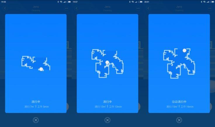 RoboRock Xiaowa E35 Saugroboter Mi Home App Mapping