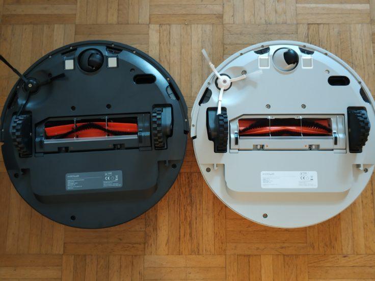 RoboRock Xiaowa E35 Saugroboter Vergleich Unterseite mit C10 Youth Edition