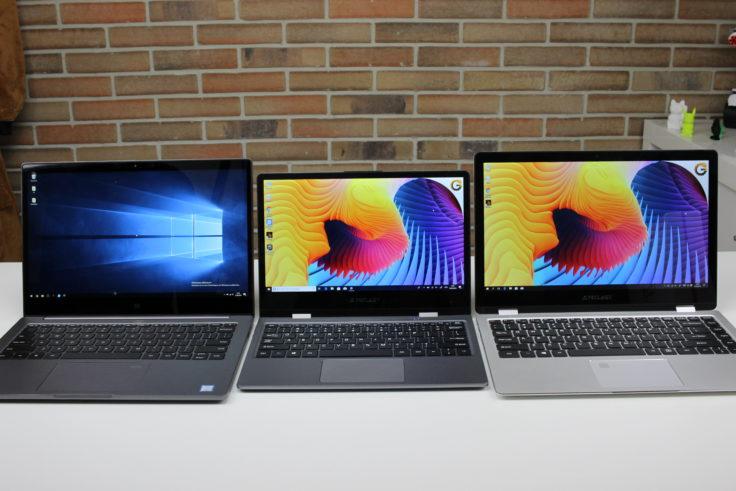 Teclast F5 Display Vergleich