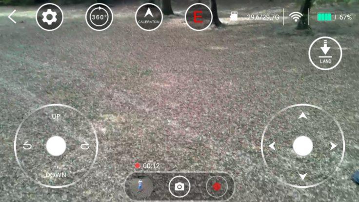ThiEYE Dr. X Drohne App Screenshot