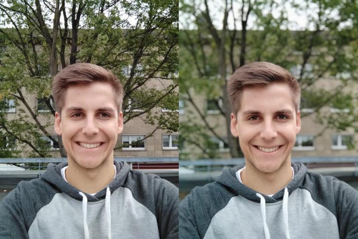 Xiaomi Mi A2 Lite Testfoto Frontkamera Portrait Vergleich