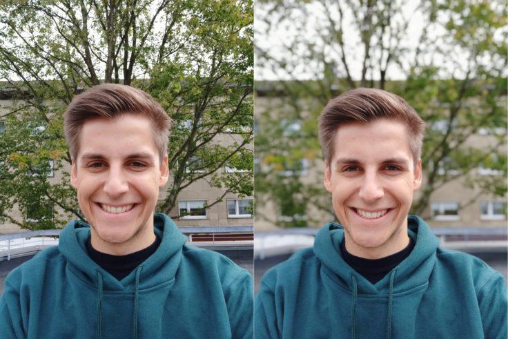 Xiaomi Pocophone F1 Testfoto Frontkamera Portrait Vergleich