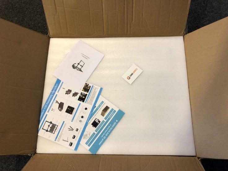 geeetech a30 verpackung offen