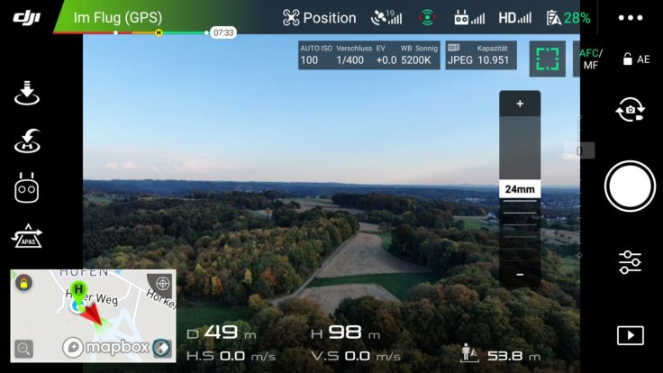 DJI GO Mavic 2 App Screenshot