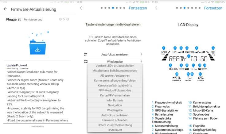 DJI Go 4 App Screenshot Firmware und Tutorial