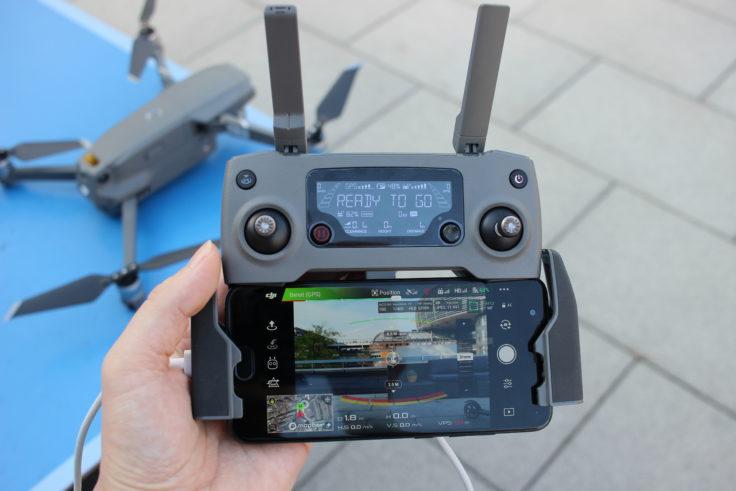 Dji Mavic 2 Zoom Fernsteuerung mit Smartphone