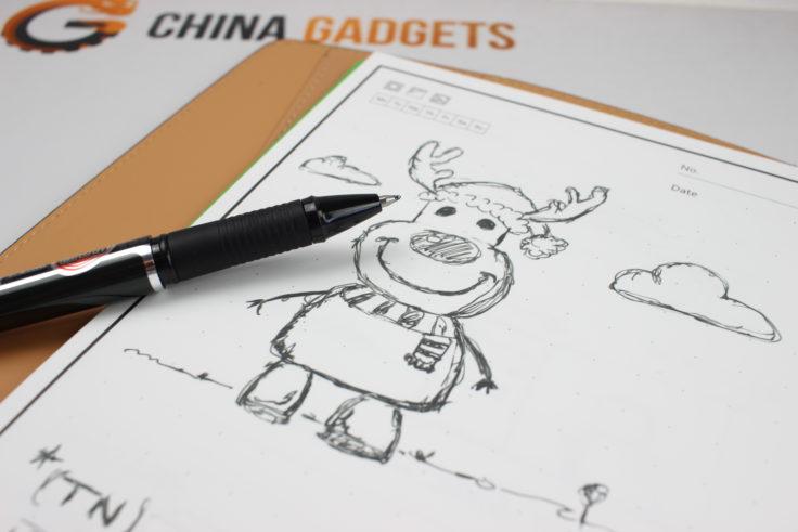 Dibujo en el cuaderno Elfinbook X