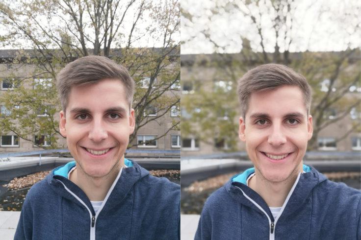 Honor Play Frontkamera Portrait Vergleich