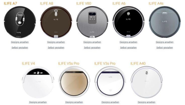 ILIFE Saugroboter-Sticker Skins Modelle Roboter