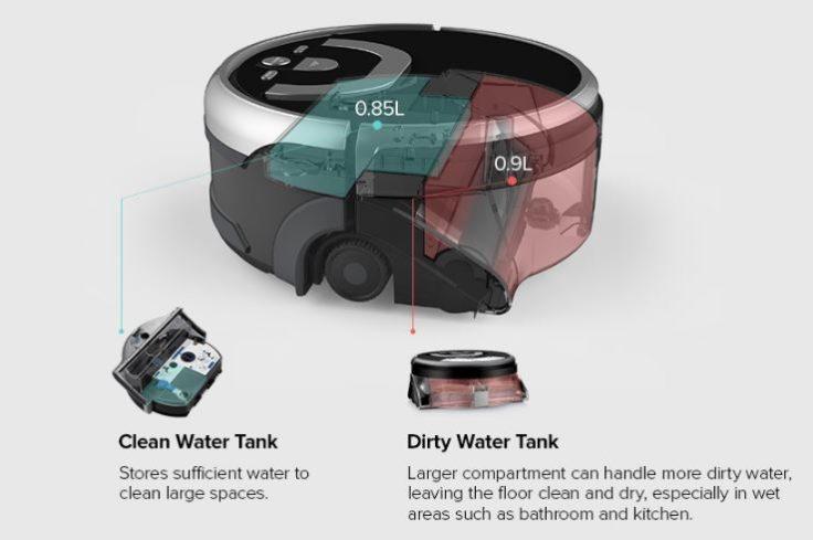 ILIFE W400 Wischroboter Wassertank
