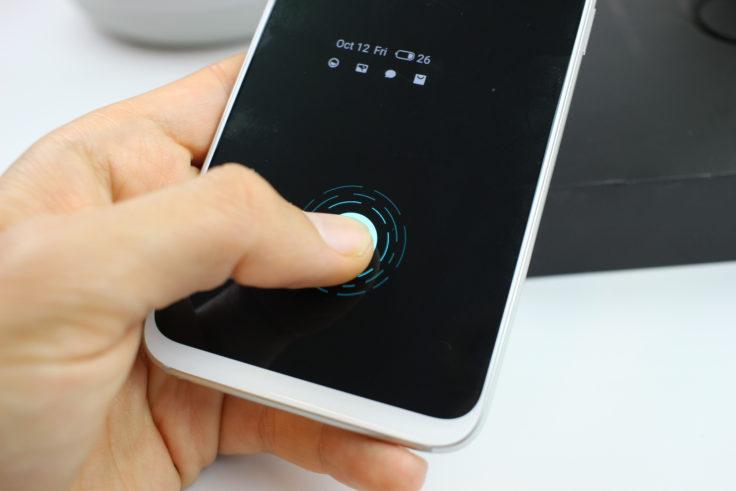 Meizu 16 Fingerabdrucksensor im Display