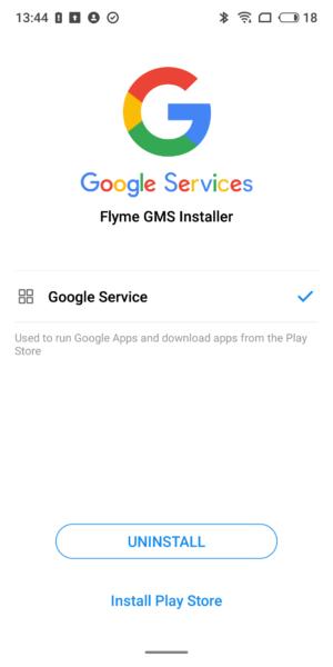 Meizu 16 Flyme Google Installer