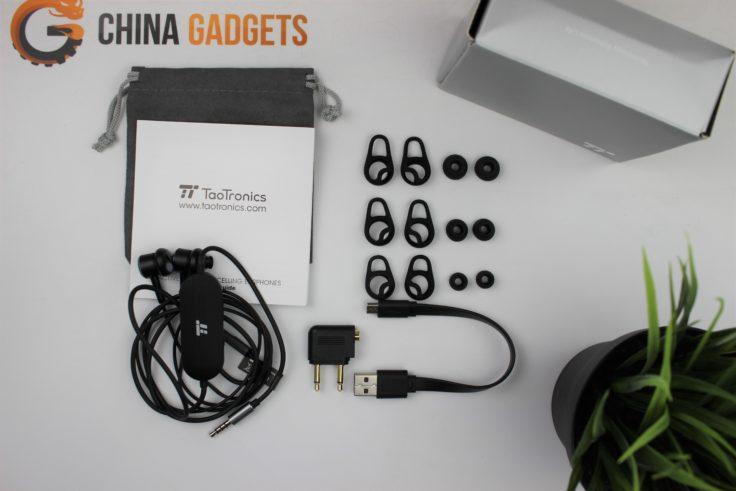 TaoTronics TT-EP003 ANC In-Ear Lieferumfang