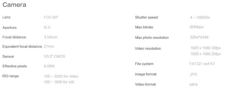 Xiaomi FIMI A3 Drohne Kamera Details