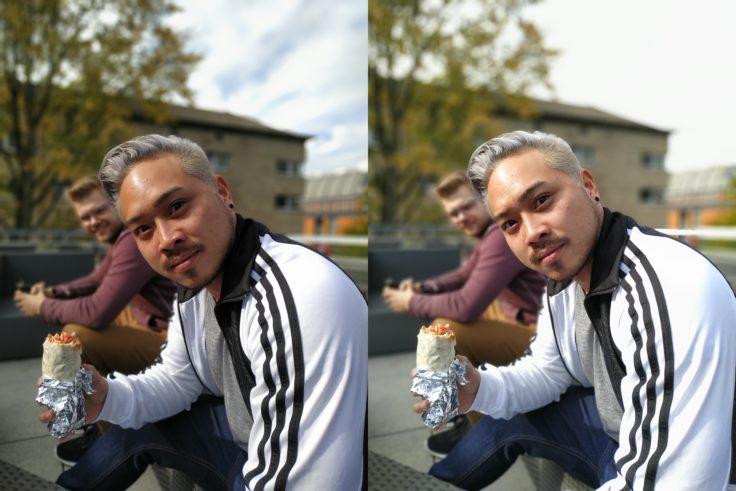 Xiaomi Redmi Note 6 Pro Portrait keine AI vs AI