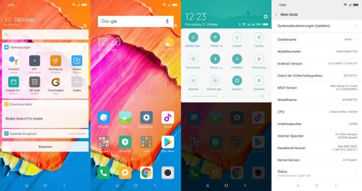 Xiaomi Redmi Note 6 Pro Software MIUI 9.6