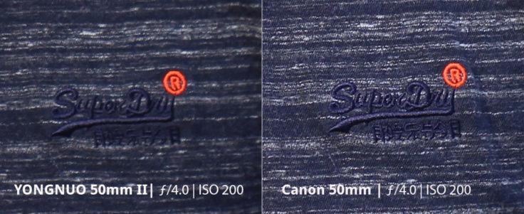 YONGNUO 50mm 2 Vergleich Zoom Weiß