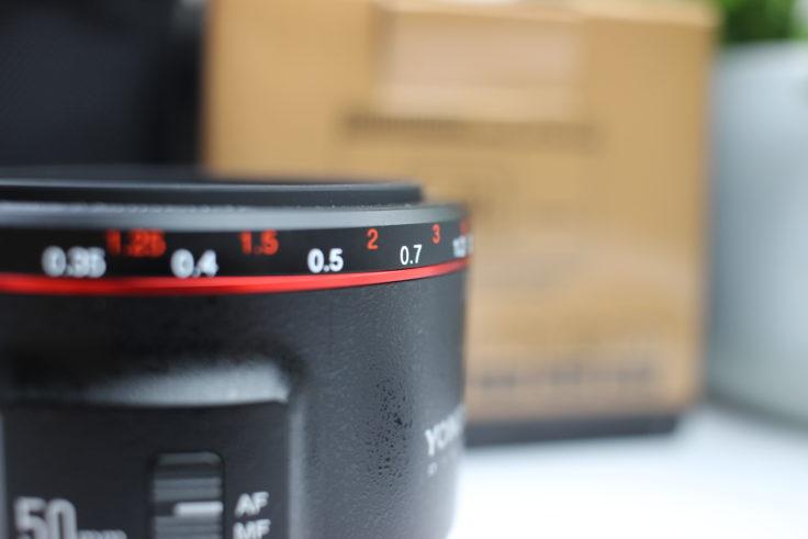 YONGNUO 50mm F/1.8 Objektiv Fokusring