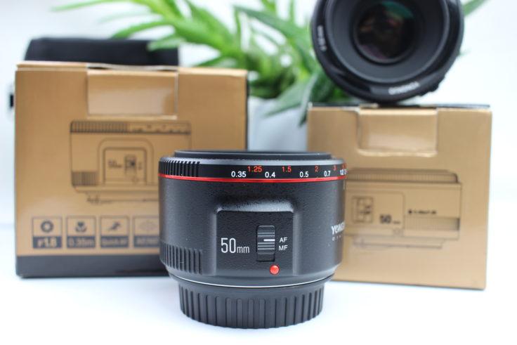 YONGNUO 50mm F/1.8 Objektiv Verpackung