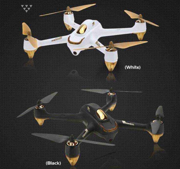 Hubsan H501S Drohne schwarz weiss