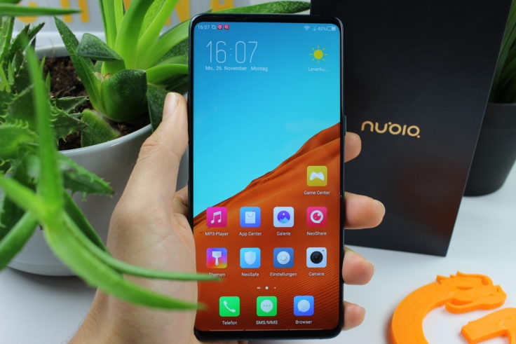 Nubia X Frontseite Display