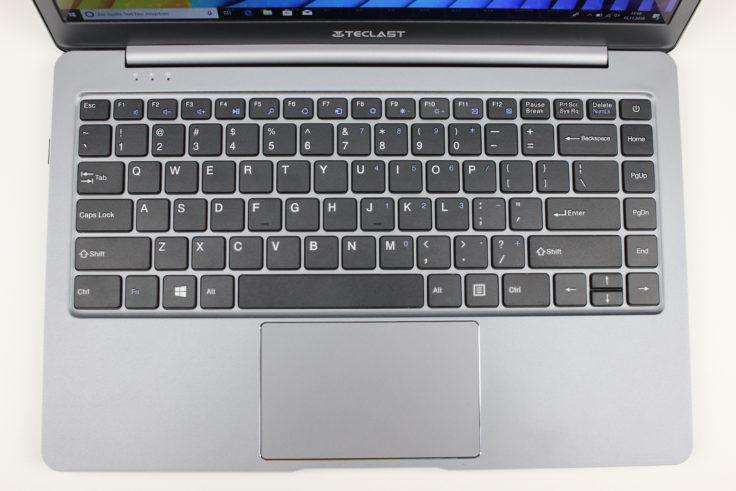 Teclast F6 Touchpad und Tastatur