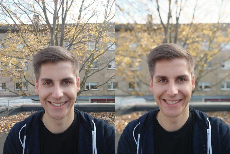Xiaomi Mi 8 Lite Testfoto Frontkamera Portrait Vergleich 2