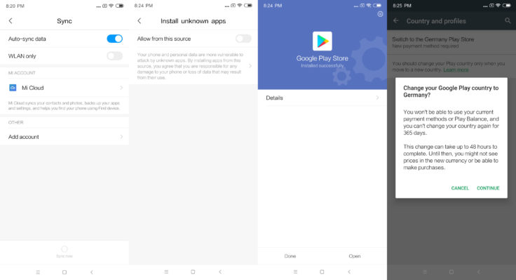 Xiaomi Mi Mix 3 Google Play Store installieren