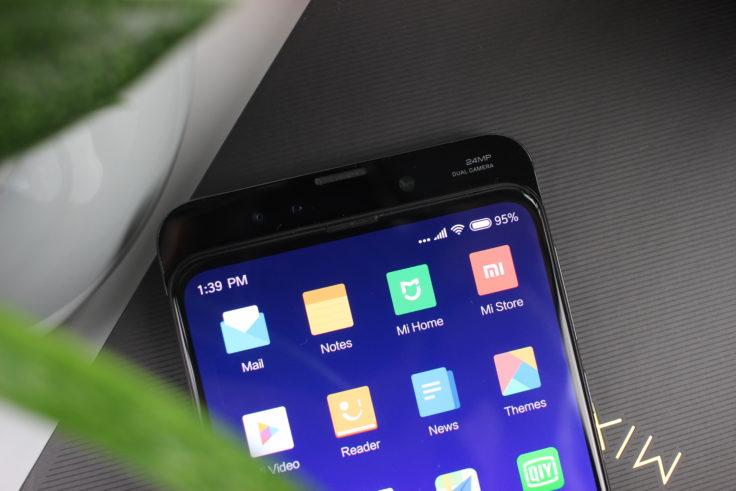 Xiaomi Mi Mix 3 Slider oben ganz