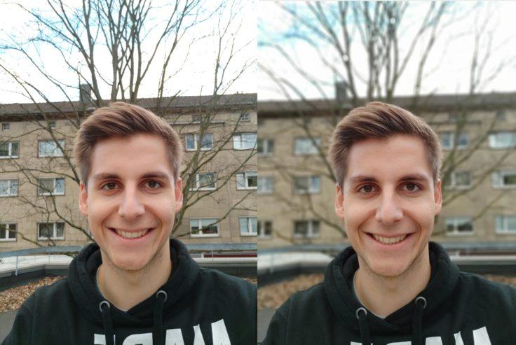 Xiaomi Mi Mix 3 Testfoto Frontkamera Portrait Vergleich