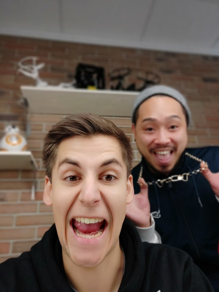 Xiaomi Mi Mix 3 Testfoto Frontkamera Portrait zwei Personen