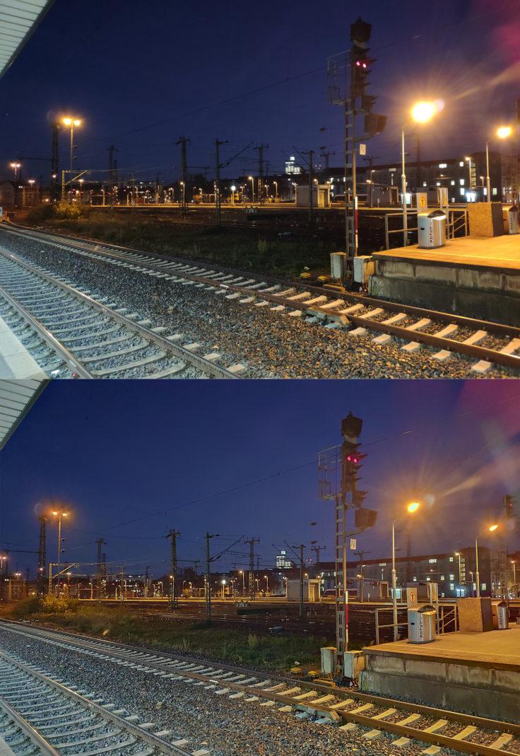 Xiaomi Mi Mix 3 Testfoto Hauptkamera Nachtmodus Bahnhof
