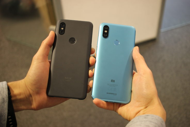 Xiaomi Mi Mix 3 vs Mi A2 Größenvergleich