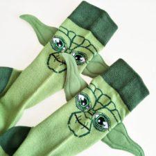 Yoda-Socken mit Ohren