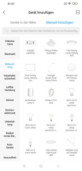 xiaomi Mi Home App Ikea Lampen