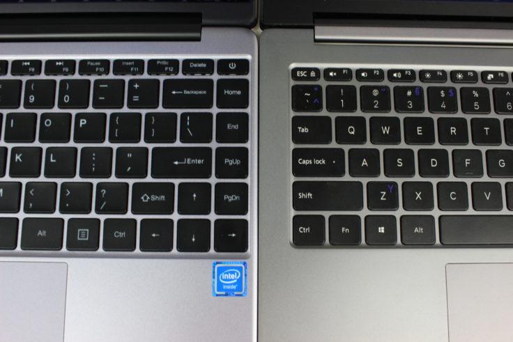 CHUWI LapBook SE und Mi Air 2018 Tastaturvergleich