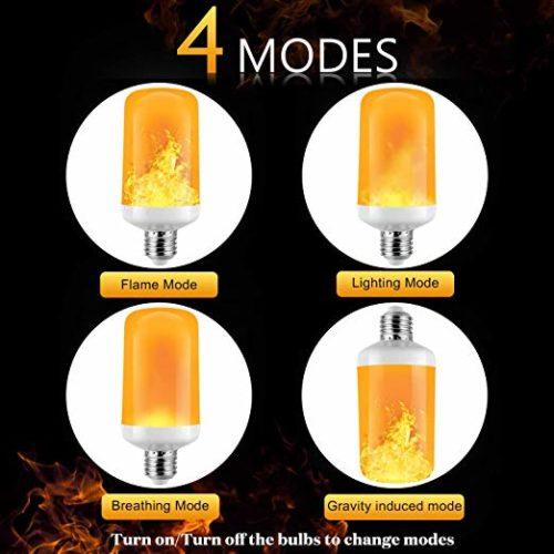Glühbirne mit Effektflammen
