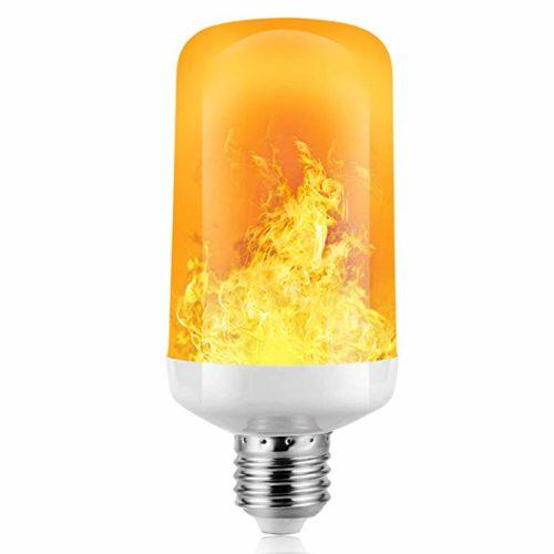 Glühbirne mit Flammen-Effekt