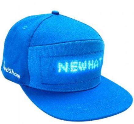 LED Basecap Front Blau