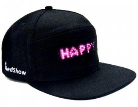 LED Basecap Front schwarz